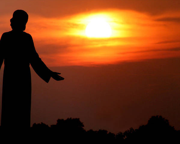 Jesus Poster featuring the photograph Holy Sunset by Jason Hochman