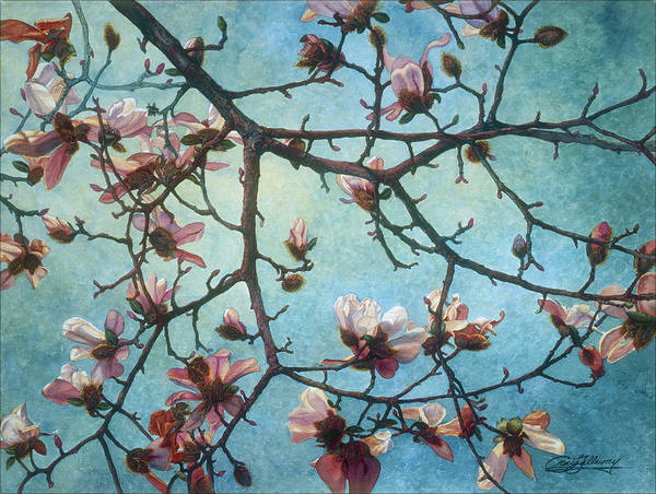 Blossoms Poster featuring the painting Homage To Vincent by Craig Gallaway