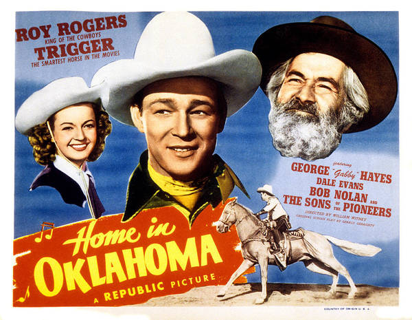 1940s Movies Poster featuring the photograph Home In Oklahoma, Dale Evans, Roy by Everett