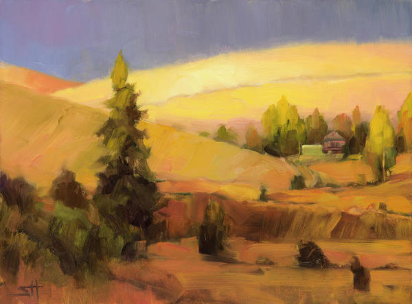 Country Poster featuring the painting Homeland 2 by Steve Henderson