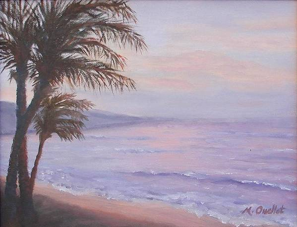 Landscape Poster featuring the painting Honeymoon In Maui by Maxine Ouellet