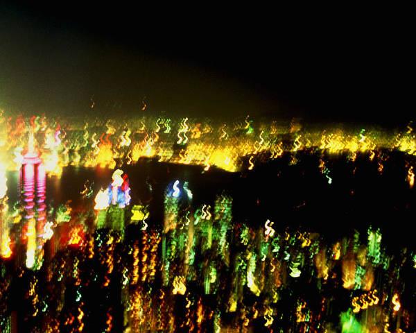 Hong Kong Poster featuring the photograph Hong Kong Harbor Abstract by Brad Rickerby