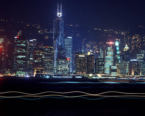 City Poster featuring the photograph Hong Kong Harbor by Brad Rickerby