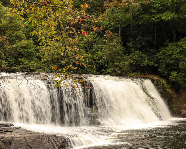 Autumn Poster featuring the photograph Hooker Falls by Travis Rogers