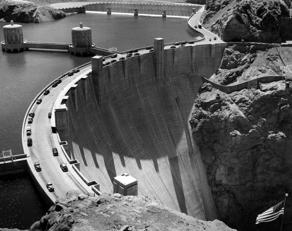 1940s Poster featuring the photograph Hoover Dam, 1948 by Everett