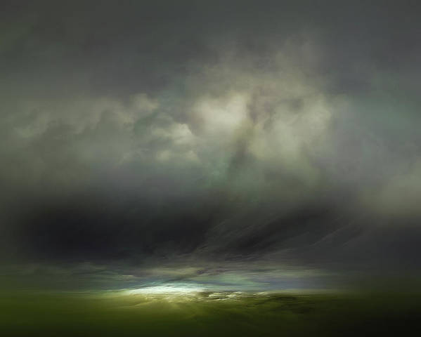 Atmosphere Poster featuring the mixed media Horizon by Lonnie Christopher