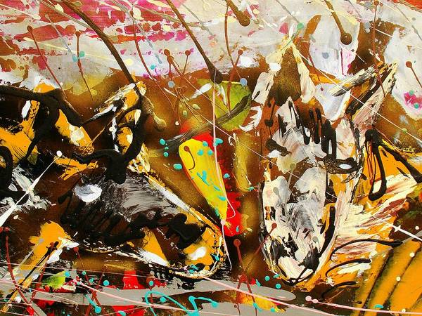 Abstract/impressionist Painting Poster featuring the photograph Spirit Of The Horses A by J R Seymour