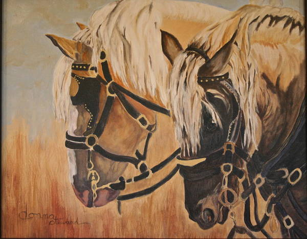 Poster featuring the painting Horseshoe And Dan by Donna Steward