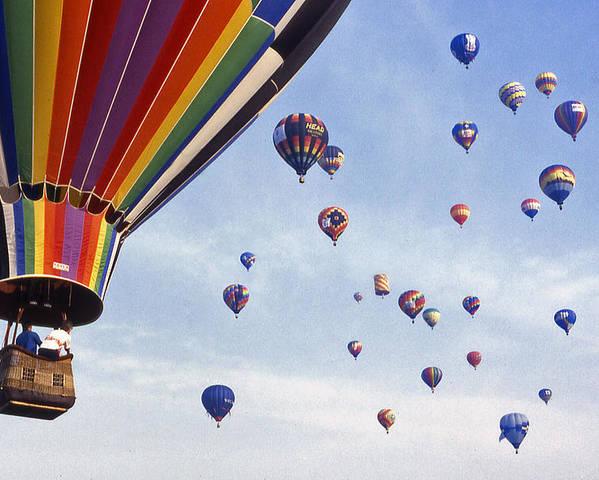 Hot Air Balloon Poster featuring the photograph Hot Air Balloon - 12 by Randy Muir