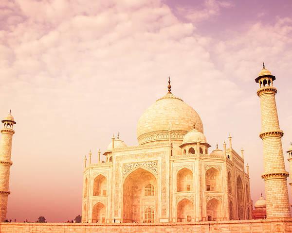Ancient Poster featuring the photograph Hot Taj Mahal by Nila Newsom