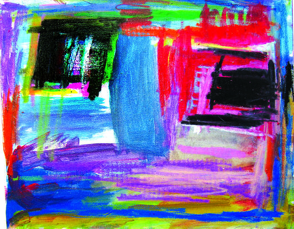 Abstract Poster featuring the mixed media House by Alfred Resteghini
