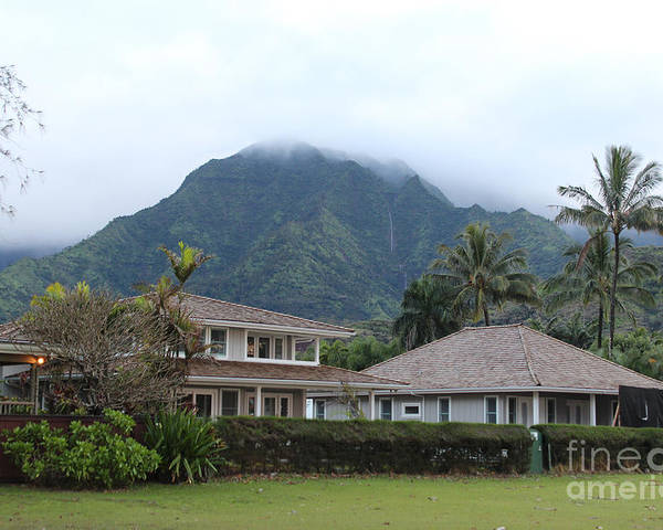 Poster featuring the photograph House At Hanalei Bay - Kauai - Hawaii by Rupali Kumbhani