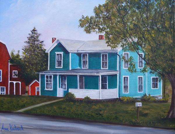 Seward House Poster featuring the painting House in Seward by Anne Kushnick