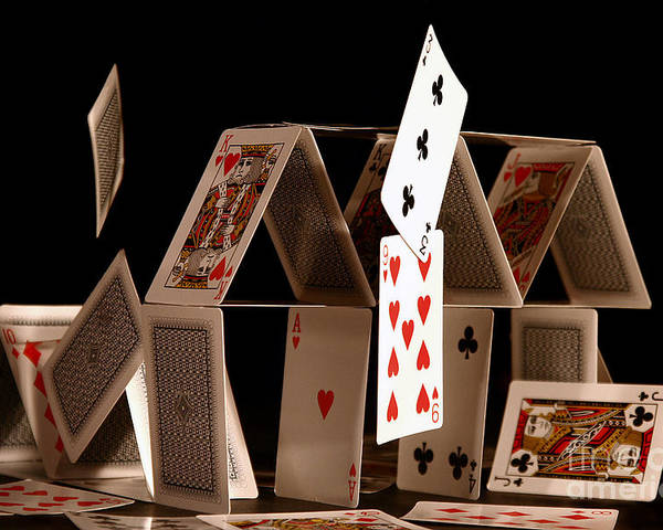 Cards Poster featuring the photograph House Of Cards by Jan Piller