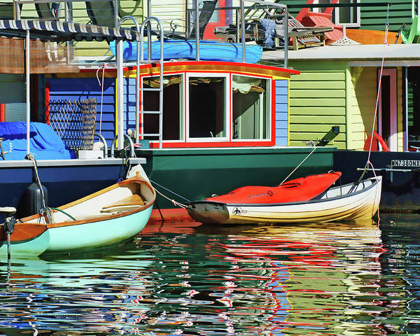 Seattle Poster featuring the photograph Houseboats 4 - Lake Union - Seattle by Nikolyn McDonald