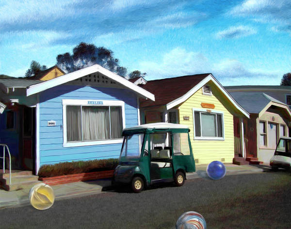 Houses Poster featuring the digital art Houses In A Row by Snake Jagger