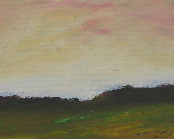 Abstract Poster featuring the painting Humid Morning by Wynn Creasy