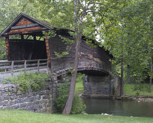 Humpback Poster featuring the photograph Humpback Covered Bridge In Covington Virginia by Brendan Reals