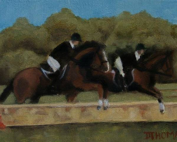 Horse Poster featuring the painting Hunt Scene by Donna Thomas