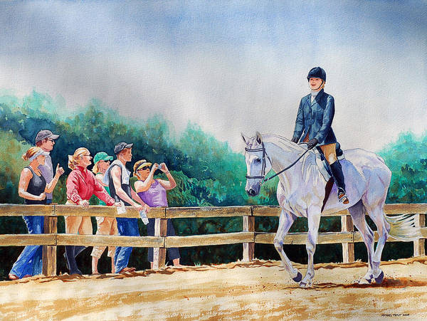 Hunter Poster featuring the painting Hunter Equitation by Michael Prout