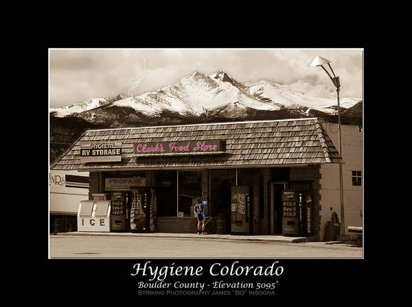 Hygiene Poster featuring the photograph Hygiene Colorado Bw Fine Art Photography Print by James BO Insogna