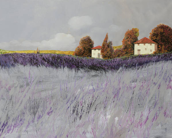 Lavender Poster featuring the painting I Campi Di Lavanda by Guido Borelli
