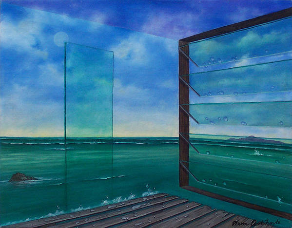 Surreal Painting Poster featuring the painting I Can See Clearly Now by Sharon Ebert