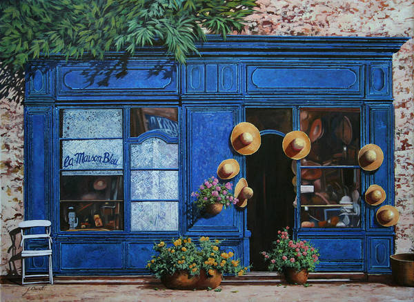 Shop Poster featuring the painting I Cappelli Gialli by Guido Borelli