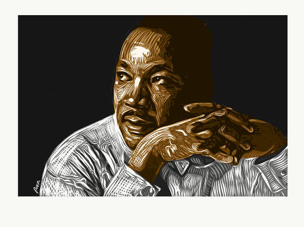 Dr. Martin Luther King Jr. Poster featuring the digital art I Have A Dream . . . by Antonio Romero