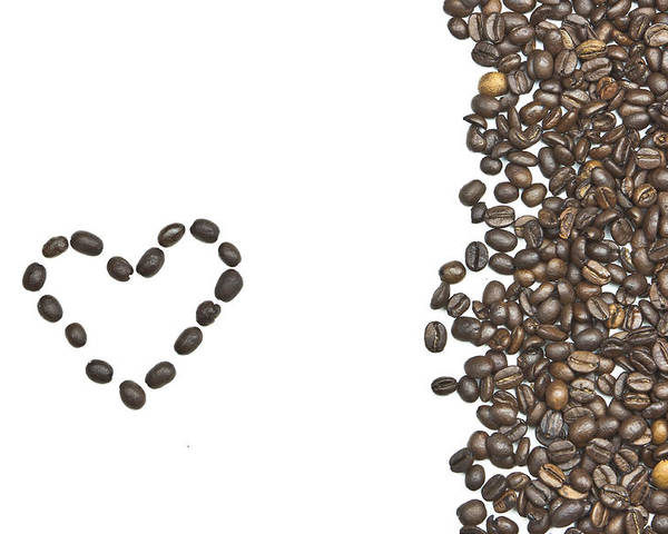Coffee Beans Poster featuring the photograph I Love Coffee by Joana Kruse
