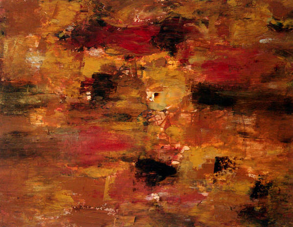 Abstract Art Poster featuring the painting I Thought It Was Over by Shiree Gilmore