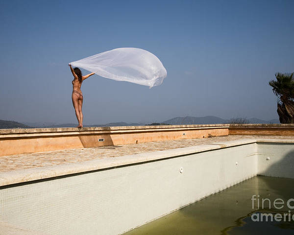 Sensual Poster featuring the photograph I Will Fly To You by Olivier De Rycke