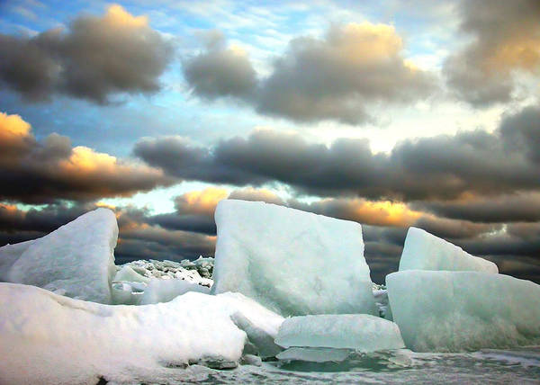 Landscape Poster featuring the photograph Ice Henge by David April