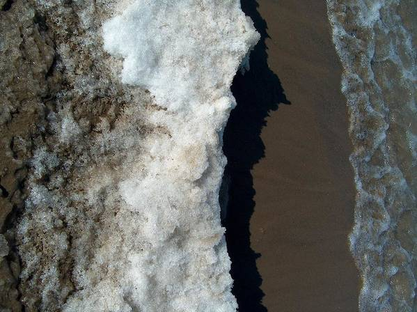 Ohio Street Beach Poster featuring the photograph Ice Shelf by Jacob Stempky