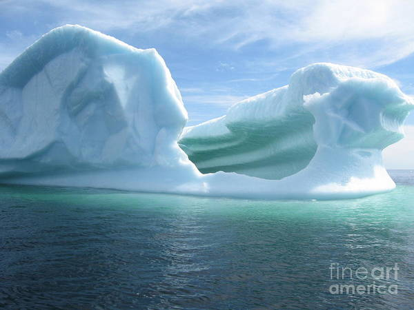 Photograph Iceberg Ocean Summer Newfoundland Poster featuring the photograph Iceberg by Seon-Jeong Kim