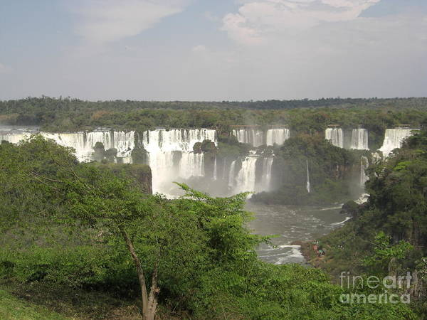 Iguassu Falls From Brazil Poster featuring the photograph Iguassu Falls From Brazil by Paul Jessop