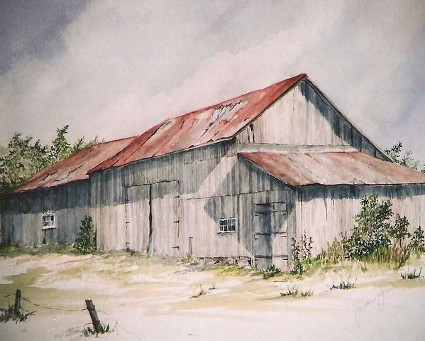 Farm Poster featuring the painting Il Etait Un Fois by Jackie Mueller-Jones