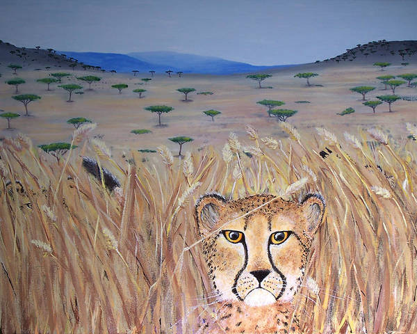 Cheetah Poster featuring the painting Illusion 01 by Tammy Dunn