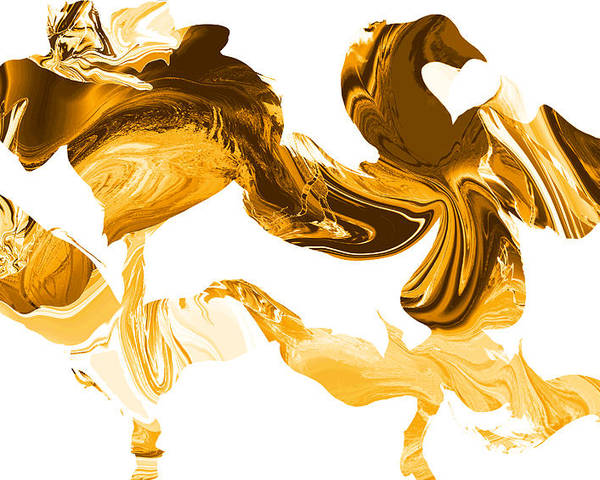 Illusions Poster featuring the painting Illusions In Gold by Abstract Angel Artist Stephen K