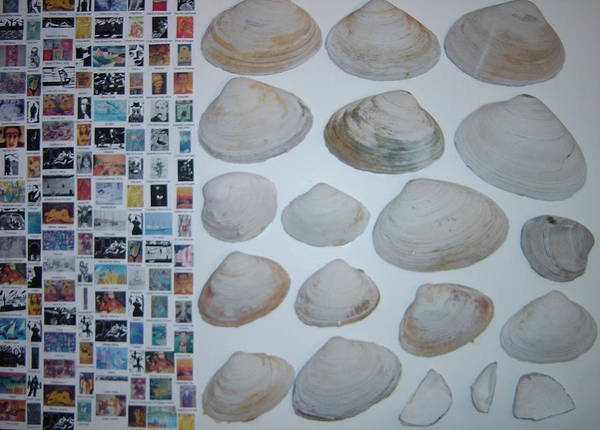 Poster featuring the painting Images And Shells by Biagio Civale