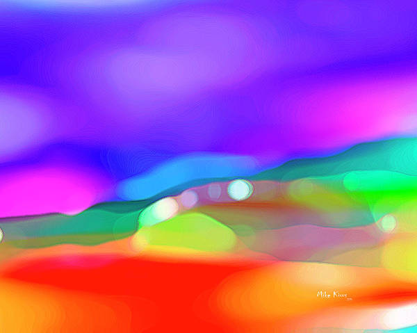 Abstract Poster featuring the digital art Imagination 847 - Jelly Bean Dreams by Mike Kious