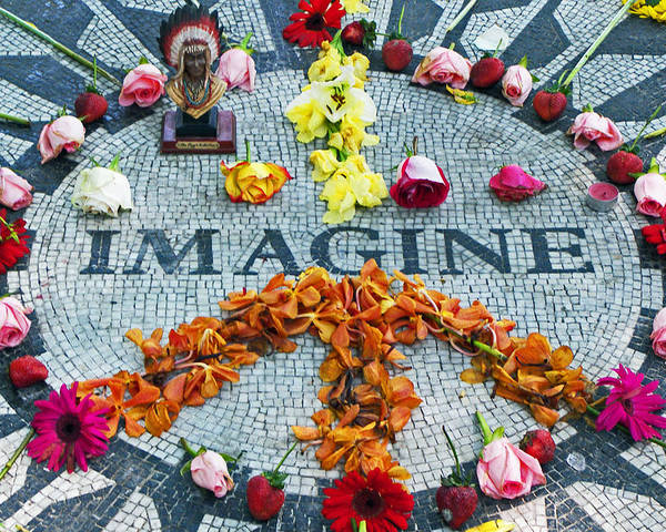 John Lennon Poster featuring the photograph Imagine Peace by Sharla Gentile