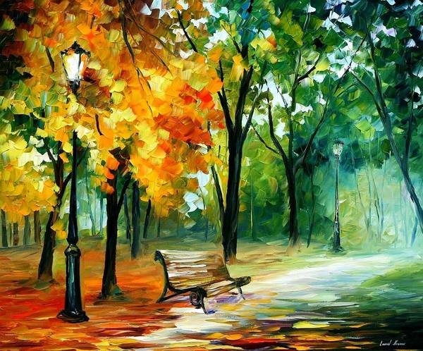 Afremov Poster featuring the painting Imaginings by Leonid Afremov