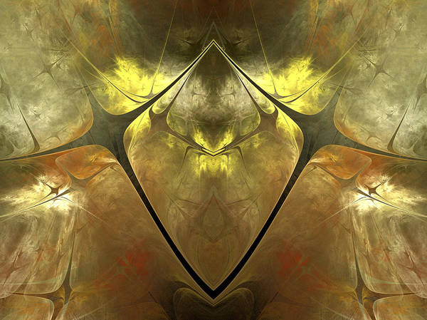 Fractal Poster featuring the digital art Imperial Topaz by Amorina Ashton