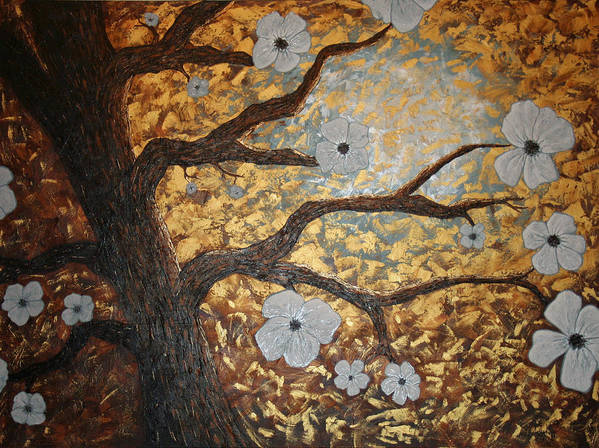 Tree Art Poster featuring the painting In Bloom by Amy Parker Evans