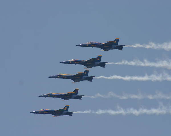 Blue Angels Poster featuring the photograph In Flight by Kevin Dunham