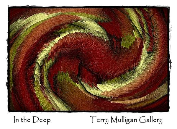 Red Poster featuring the digital art In The Deep by Terry Mulligan