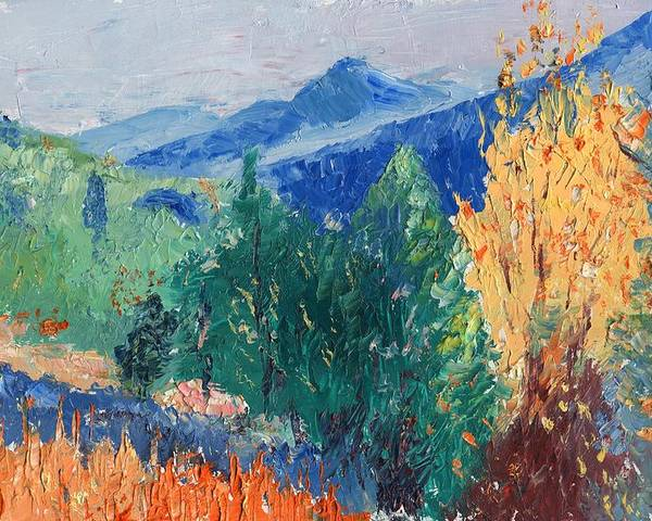 Landscape Poster featuring the painting In The Hills by Horacio Prada