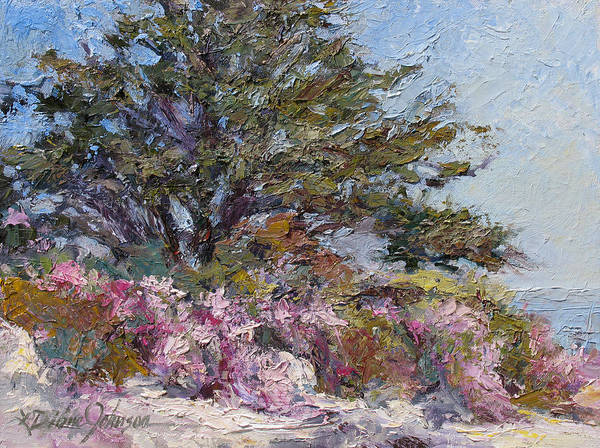 Plein Air Landscape Painting Poster featuring the painting In The Pink by L Diane Johnson