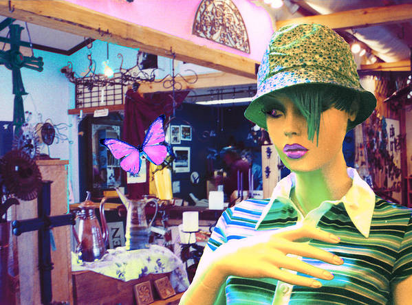 Hat Poster featuring the digital art In The Shop by Sarah Crumpler